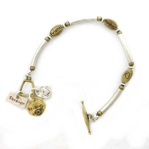 Jewelry - Friends Forever Bracelet-Antique Silver & Gold